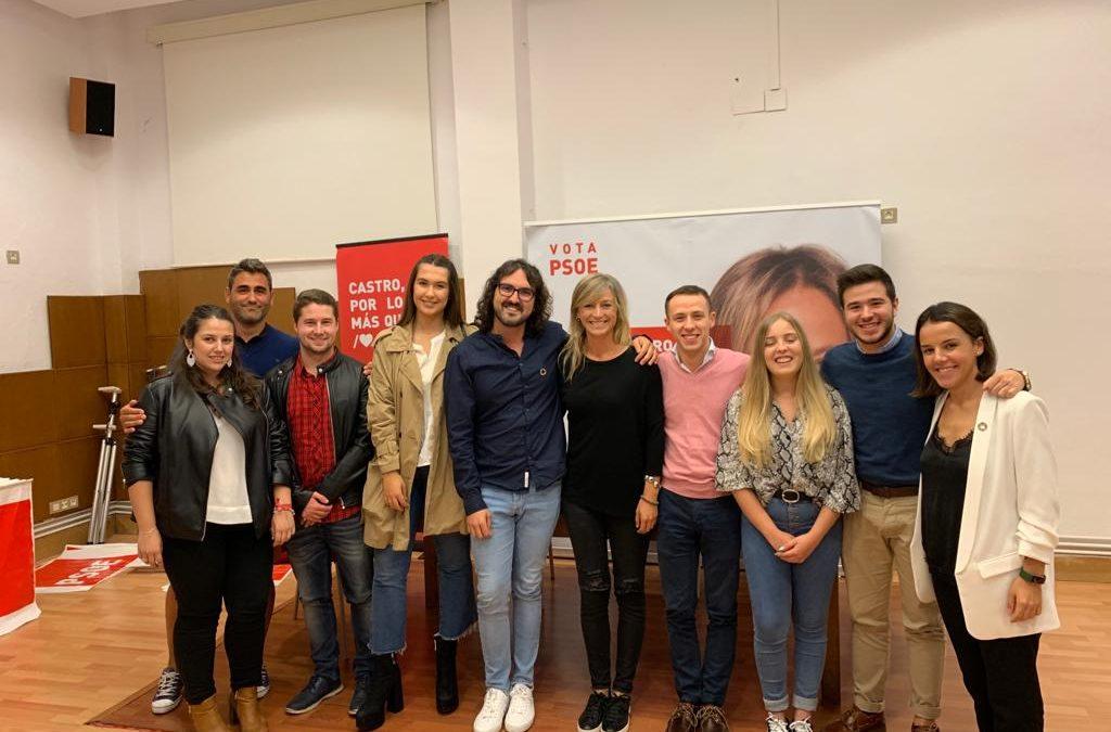 Juventudes Socialistas de Cantabria abre una nueva agrupación en Castro Urdiales.
